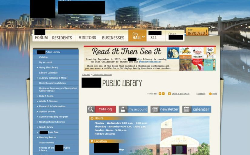 What Not to Do on Your Library Website, or the Library Websites' Hall of Shame: Not Having Your Own Website